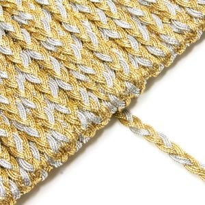 www.houseofadorn.com - Braid Trim 7mm - Lurex Plait Style 10502 (Price per 1m)