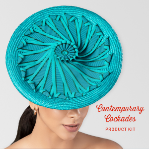 www.houseofadorn.com - Product Kit - Millinery Materials for Hat Academy CONTEMPORARY COCKADES DELUXE COURSE Bundle (COMPLETE KIT)