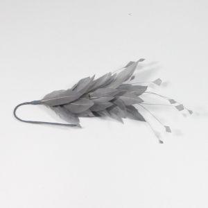 www.houseofadorn.com - Feather Goose & Stripped Coque Mount - Grey