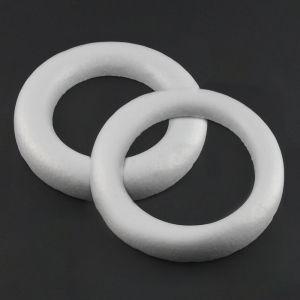 www.houseofadorn.com - Polystyrene Styrofoam - Wreath Flat Ring Shape White Foam