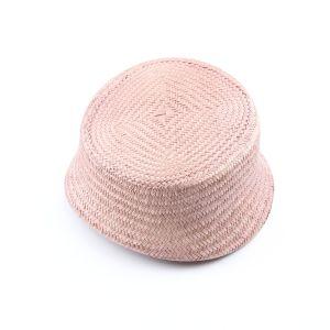 www.houseofadorn.com - Buntal Pillbox Curvature Hat - Latte