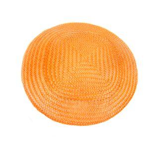 www.houseofadorn.com - Buntal Button Hat - Orange