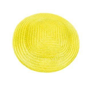 www.houseofadorn.com - Buntal Button Hat - Yellow