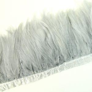 www.houseofadorn.com - Feather Full Hackle on Fringe (Price per 10cm) - Silver Grey
