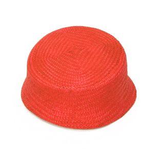 www.houseofadorn.com - Buntal Pillbox Curvature Hat - Mandarin Orange