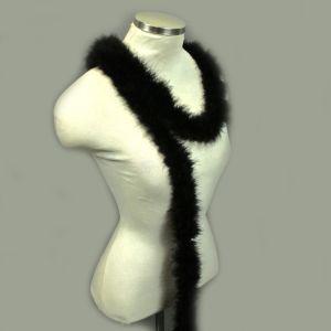 www.houseofadorn.com - Feather Marabou Party Boa - 15gram - Black