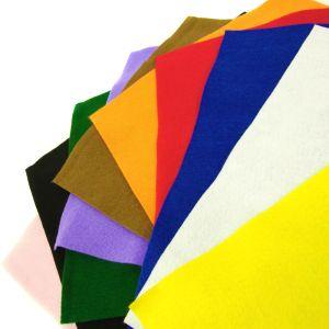 www.houseofadorn.com - Felt Acrylic Square Cloth Material Fabric Sheets (Pack of 10) - Assorted