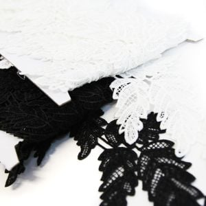 www.houseofadorn.com - Lace Guipure Trim with Triple Fern Vine 12cm Style 6551 (Price per 50cm)