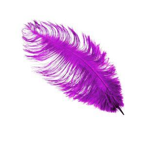 www.houseofadorn.com - Feather Ostrich Plume 30-40cm - Violet Purple