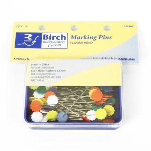 www.houseofadorn.com - Birch Pins Marking Flower Head (Box of 100)