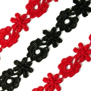 www.houseofadorn.com - Lace Guipure Trim - 13mm Daisies & Snowflakes Style #3759 (Price per 1m)