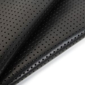 www.houseofadorn.com - Leather Skin - Lamb Hide Patterned & Textured (Price per 4-5 sq ft) - Perforated 5mm - Black