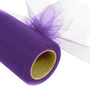 "www.houseofadorn.com - Tulle Roll - Plain Colours 6"" (Price per 22m / 25y Spool) - Purple"