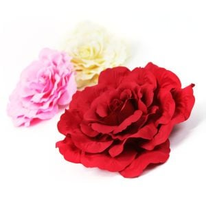 www.houseofadorn.com - Flower Cabbage Rose XXLarge w Clip or Headband