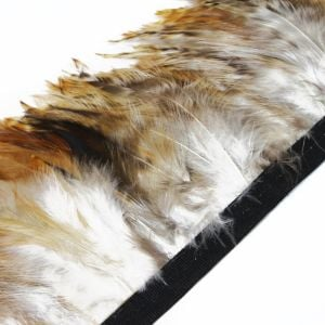 www.houseofadorn.com - Feather Full Hackle on Fringe - Natural Tones (Price per 50cm) - Chinchilla Ginger