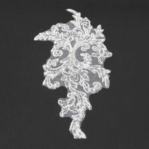 www.houseofadorn.com - Motif Lace Alencon Inspired Rayon Applique 30cm Fern Style 5169