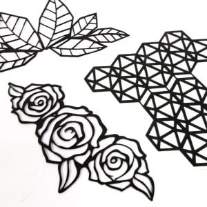 www.houseofadorn.com - Motif Leather Laser Cut Applique - Multiple Styles Available
