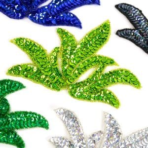 www.houseofadorn.com - Motif Sequin & Beaded Leaf Spray (Price per pair)