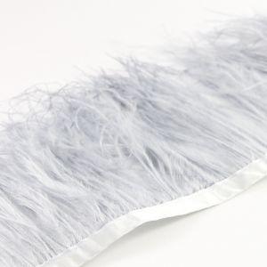 www.houseofadorn.com - Feather Ostrich on Fringe (Price per 10cm) - Silver Grey
