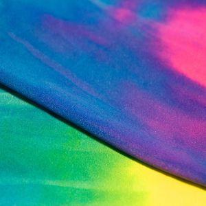 www.houseofadorn.com - Spandex Nylon Lycra 4 Way Stretch Fabric W150cm - Tie-Dye Shiny Finish (Price per 1m)