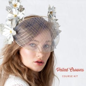 www.houseofadorn.com - Product Kit - Millinery Materials for Hat Academy VEILED CROWNS DELUXE COURSE Bundle (COMPLETE KIT)