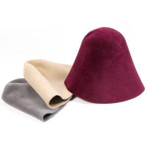 www.houseofadorn.com - Felt Velour Fur Cone Hood